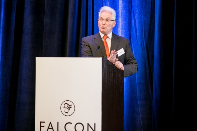 Dr. Nasser Saidi speaking at Falcon Group's 2014 annual Dubai forum